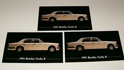 ★★3-1991 BENTLEY TURBO R PHOTO MAGNETS 91 90 92 93 ROLLS ROYCE★★