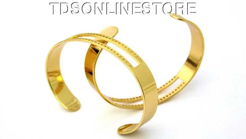 Centerline Gold Plated Adjustable Bracelet Cuffs Package Of 2
