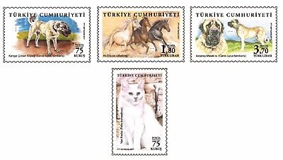 TURKEY 2017, THE ANIMALS, HORSE, DOG (KANGAL), CAT (VAN), RABBIT, MNH for sale  Shipping to Canada