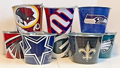 NFL Aluminum Beer Bucket 5 QT Drink Party Ice Metal Pail - Choose Your Team - Nfl Party