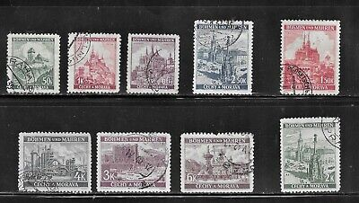HICK GIRL-USED CZECHLOSLOVAKIA STAMPS ISSUED UNDER GERMAN OCCUPATION    T159