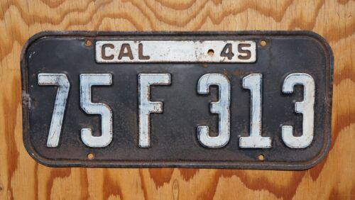 1945 CALIFORNIA Passenger License Plate