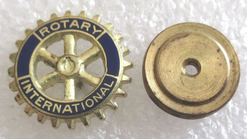 Vintage Rotary International Member Lapel Pin - Old Style Screw Back