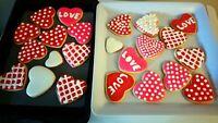 Delicious valentine cookies