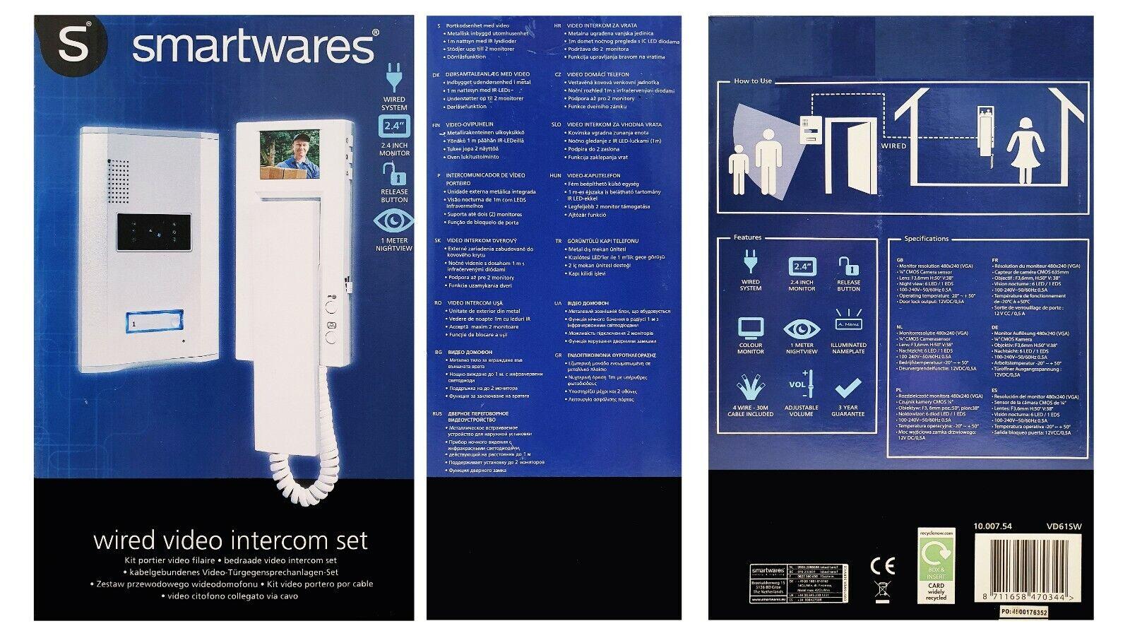 Smartwares Elro IB60 ERSATZ Telefon Türsprechanlage IB61 IB62 IB63 IB64 Zusatz