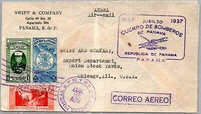 GP GOLDPATH: PANAMA COVER 1937 AIR MAIL _CV695_P04