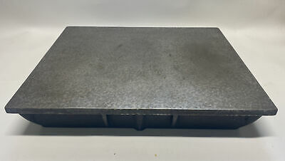 Vintage Cast Iron 18 X 15 X 3 Machinist Surface Plate Lp1