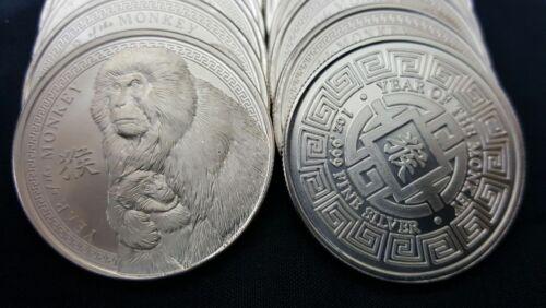 2016 Chinese Zodiac Year Of The Monkey 1 oz Silver USA Made Bullion BU Round