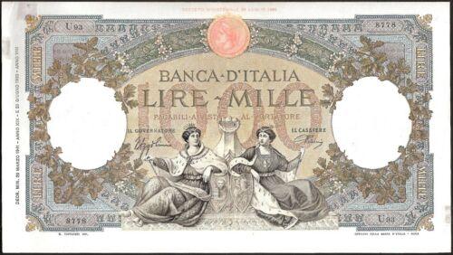 ITALY 1000 LIRE 1941 P:56c VF