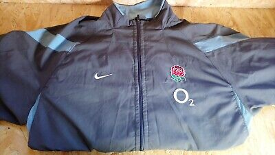 Nike England Rugby O2 Tracksuit Training Top Jacket Grey Blue /  Size Large / L
