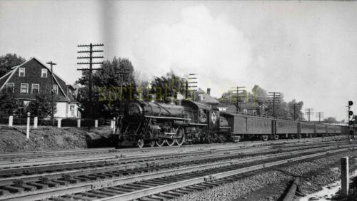 1947 ERIE 4-6-2 Locomotive #2528 @ Rutherford NJ - Vintage Railroad Negative