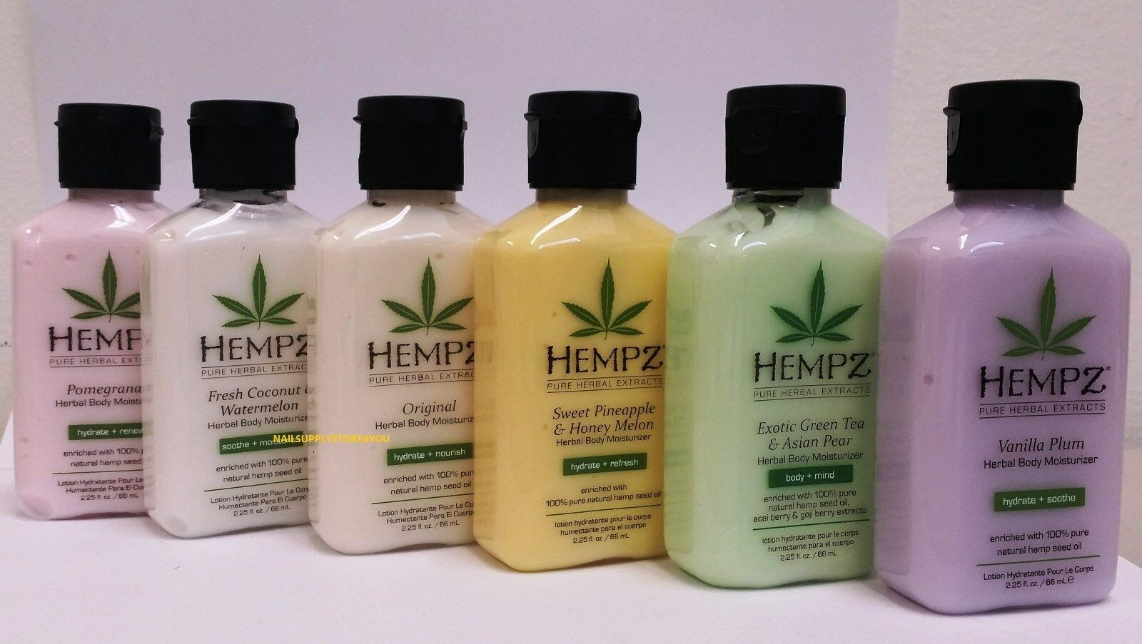 Pack of 3 - HEMPZ Pure Herbal Extracts  2.25 fl. oz Lotion -