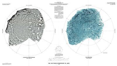 1988 U.S. Geological Survey Map of Ariel, Moon of Uranus