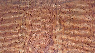 Bubinga Waterfall Kewazinga Wood Veneer 24 X 48 On Paper Backer Aaa 140