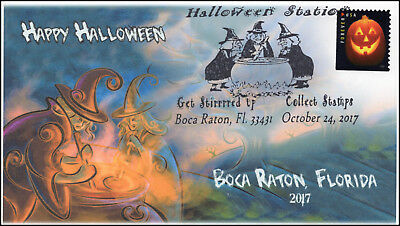 en, Event Cover, Pictorial Postmark, Boca Raton FL, Witches (Halloween Usa 2017)