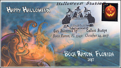 17-313, 2017,Halloween, Event Cover, Pictorial Postmark, Boca Raton FL, Witches (2017 Halloween)