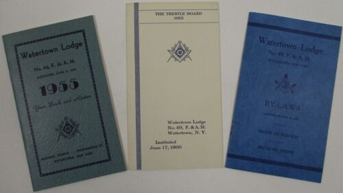 Vintage Masonic By-Laws Trestle Board Year Book and Roster Masons Lodge F & A M