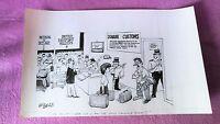 Dibujo Original Blanco/negro Griffin, Douane Customs, Daily Mirror, Sun, Firmado -  - ebay.es