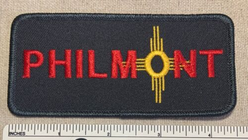 VTG PHILMONT SCOUT RANCH Black Twill Rectangular PATCH Cimarron New Mexico Camp