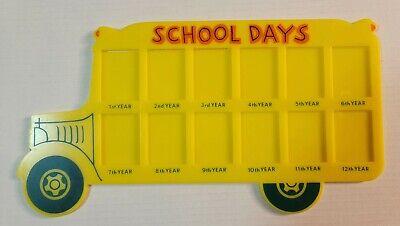 Vintage School Days School Bus Picture Frame