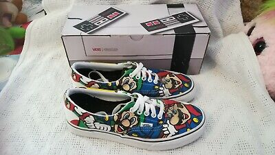 Nintendo and Vans Era Mario and Friends Skate Shoe Mario/Luigi size UK 6