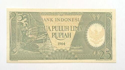 1964 INDONESIA 25 Rupiah Uncirculated Banknote