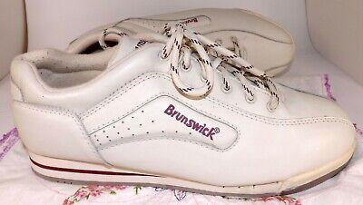 Brunswick Bowling Shoes Womens Size 10, White & Purple NICE! for sale  Spokane