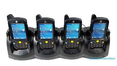 Lot Of 4x Motorola Mc67 Mc67na-pdabab00300 1d2d Wm6.5 Barcode Scanner Cradle