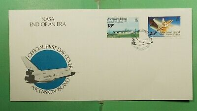 DR WHO 1989 ASCENTION ISLAND FDC SPACE SHUTTLE NASA CACHET COMBO  g15914