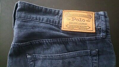 Ralph Lauren Polo cord Jeans Herren 34/34 Kaum getragen slim straight jeansblau Lauren Cord Jeans