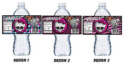 20 MONSTER HIGH PERSONALIZED BIRTHDAY PARTY FAVORS ~ WATER BOTTLE LABELS (Monster High Party)
