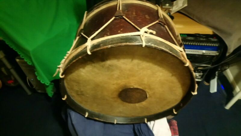 18th Century Vintage Antique Marching Bass Drum