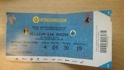 Ticket footbal Belgium - San Marino 10/10/2019 Qualification EURO 2020