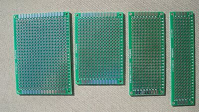 Diy Double-side Plated Through Prototype Pcb Board 2 Each 5x7 4x6 3x7 2x8cm