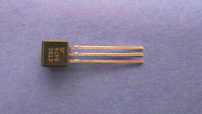 100 X Bc547a Si-transistor Npn 45v 01a 05w To-92 Cdil