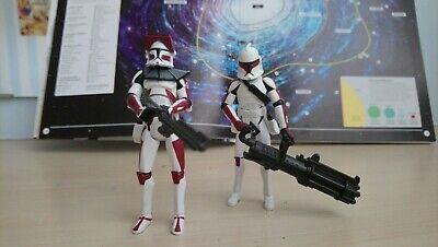 Hasbro Star wars , Clone troopers Coruscant Guard x 2