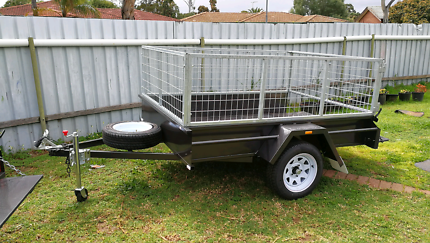 Brand New 7x5 Heavy Duty Trailer with Cage. New Wheels & Tyres