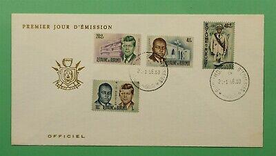 DR WHO 1966 BURUNDI FDC LOUIS RWAGASORE + JFK SEMIPOSTALS  C241252