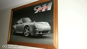 Porsche 911 turbo wooden picture frame Alfords Point Sutherland Area Preview