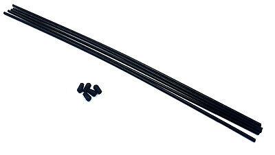 2.4ghz 27mhz Coche RC Receptor Plástico Antena Tubo Negro cap x5