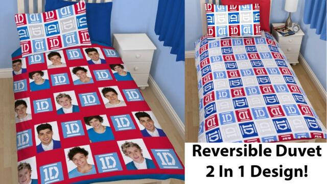 One Direction Single Duvet Cover Bet Set 1D Quilt Cover Bedding Reversible 2 in1