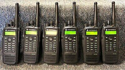 Motorola Xpr6550 Uhf Digital Dmr Mototrbo Set Of 6 Radios 430-470 Good 1-3 Sets
