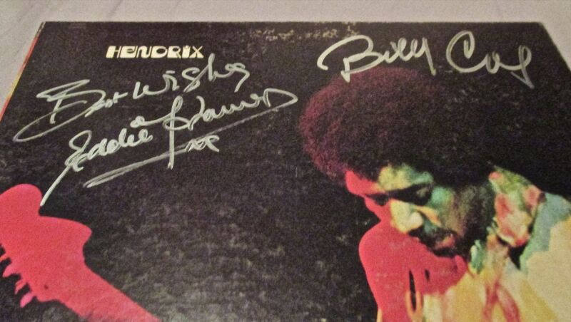 Jimi Hendrix Band of Gypsys SIGNED LP Billy Cox Eddie Kramer PROOF