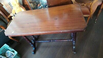 Antique Mahogany Console Table, Hall Table, Side Table
