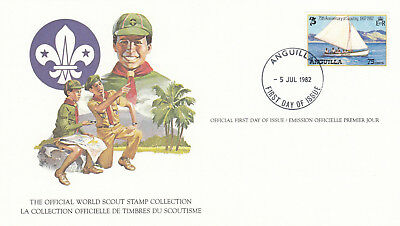 (14102) Anguilla FDC Card Scouts 5 July 1982