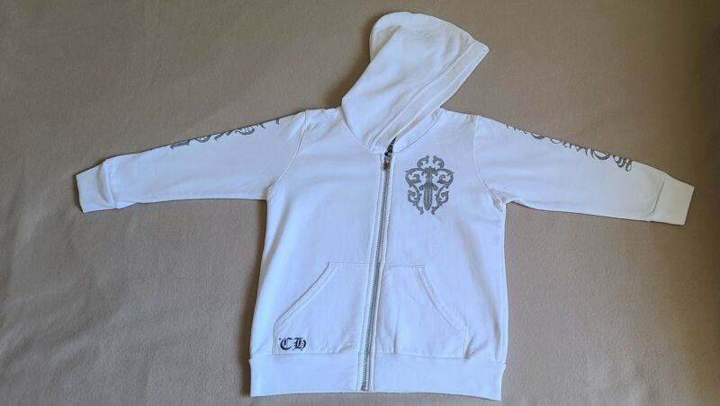 CHROME HEARTS Kids zip up hoodie size 4