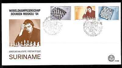 SURINAME 1984 FDC – WORLD CHESS CHAMPIONSHIP #A0961