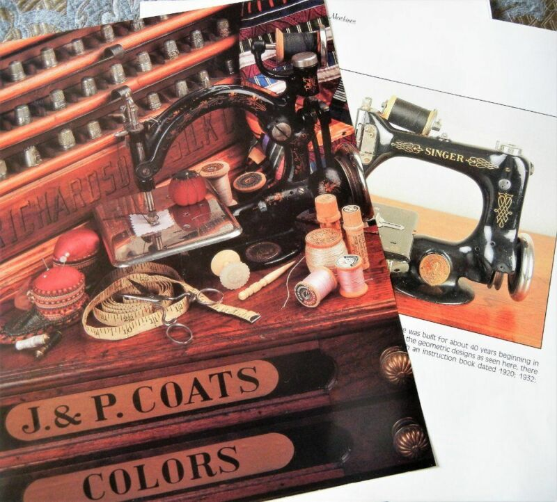 18p History Article -Antique Singer Sewing Machines & Accessories
