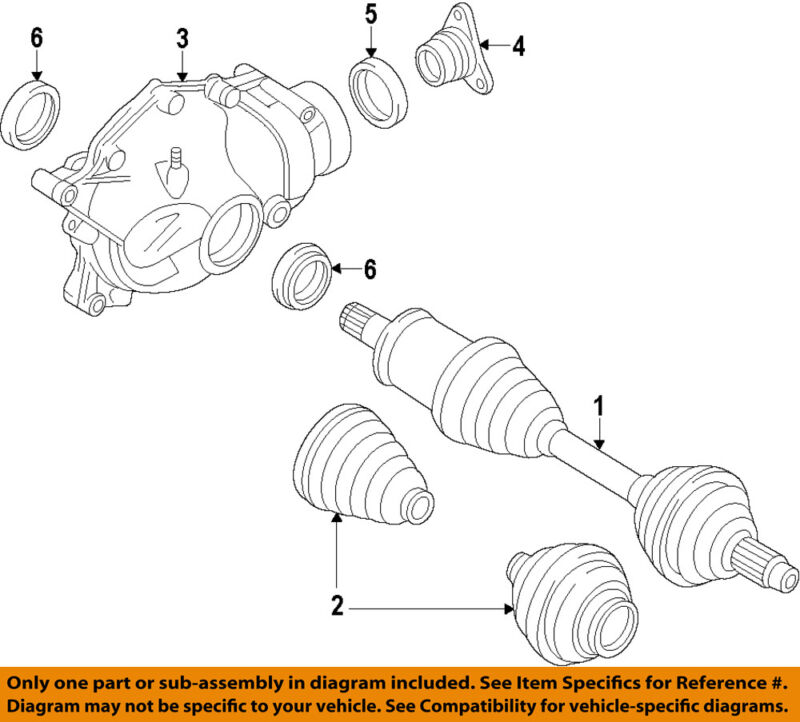 Bmw Oem 11-18 X5-front Differential 31507594315