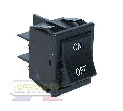 Merchant Sr13 Black Rocker Switch Double Throw 16a 250vac 1hp 125vac